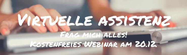 Kostenfreies Webinar: Virtuelle Assistenz Q+A