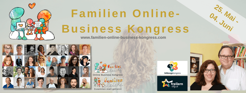 Familien Online Business Kongress - jetzt anmelden!